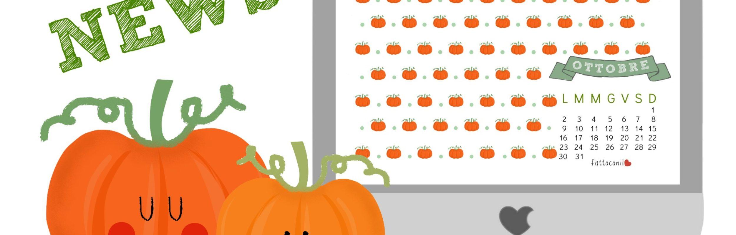 Una zucca per il mese di ottobre