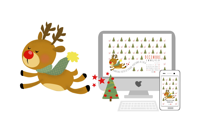 Come Creare Una Renna Luminosa la renna rudolph e il nuovo sfondo grafico per il mese di