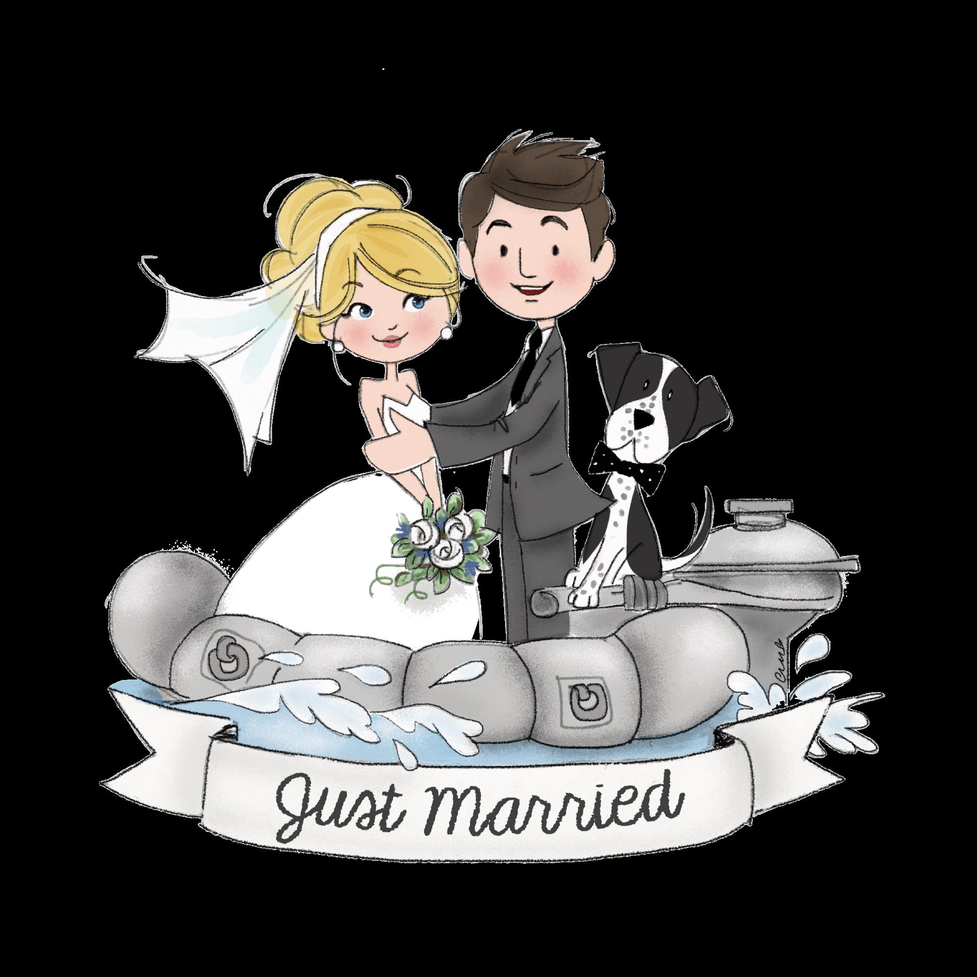 sposi sul gommone