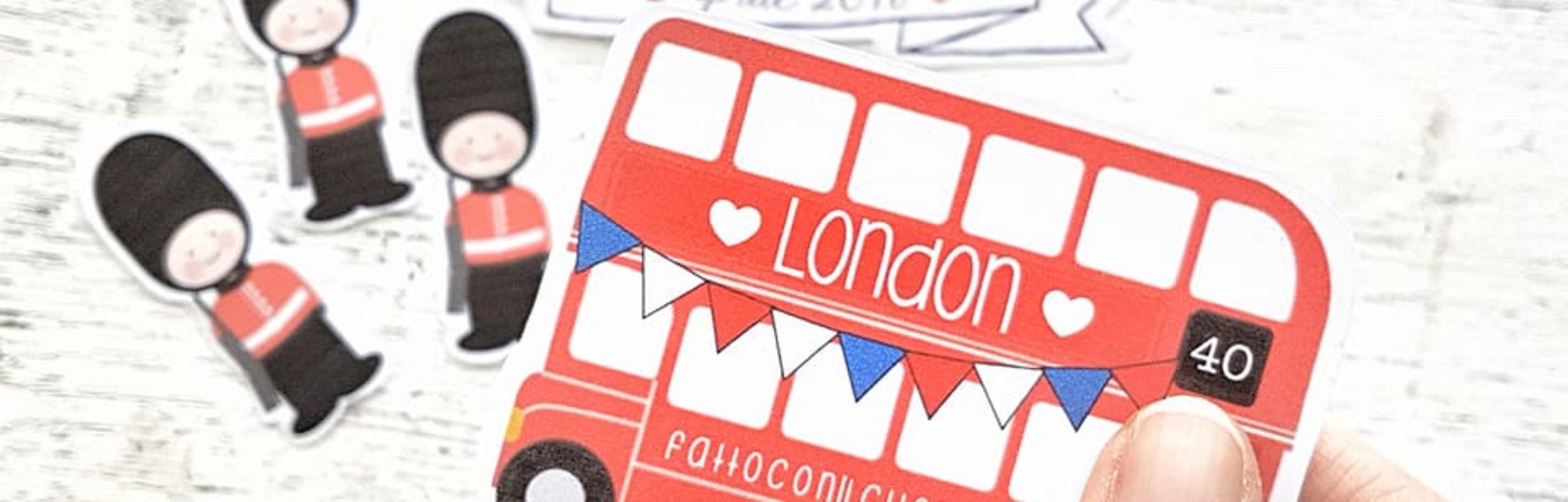 La grafica ispirata alla città di Londra